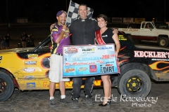Eagle   08-02-14 354   Mike Hansen with Miss Nebraska Cup Elle Patocka  and flagman Billy Lloyd   JoeOrthPhotos