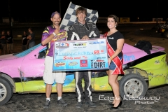Eagle   08-02-14 362    Larry Cronin with Miss Nebraska Cup Elle Patocka  and flagman Billy Lloyd   JoeOrthPhotos