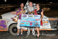 Eagle   08-02-14 369   Trent Roth with Miss Nebraska Cup Elle Patocka  and flagman Billy Lloyd   JoeOrthPhotos