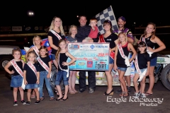 Eagle   08-23-14 275    Scott Bivens with  2013 Miss Nebraska Cup Elle Potocka and Miss Nebraska Cup finalist Jen Harter and flagman Billy Lloyd along with 2014 Mini Miss Nebraska Cup finailist   JoeOrthPhoto