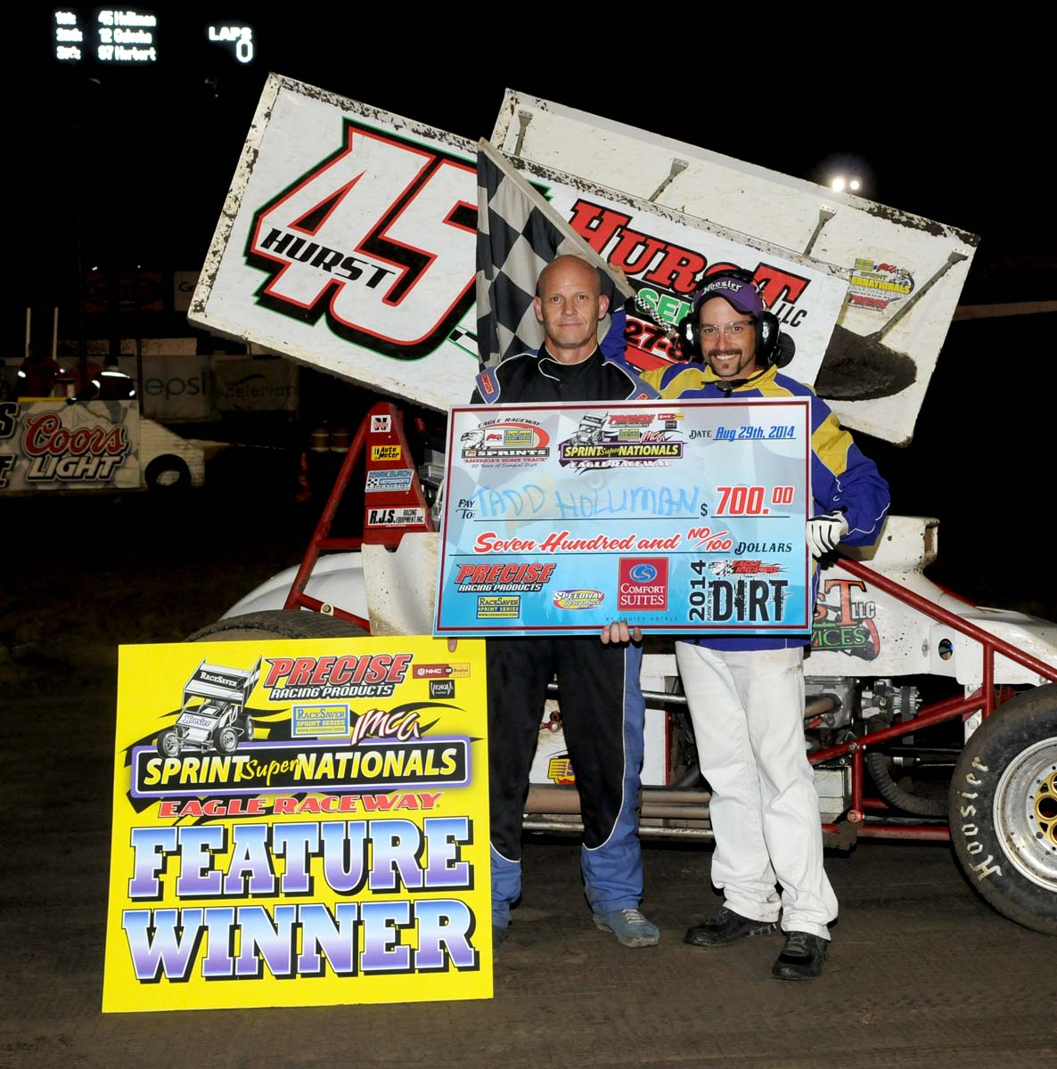 Eagle-08-29-14-671-Tadd-Holliman-with-Miss-Nebraska-Cup-Elle-Patocka-and-flagman-Billy-Lloyd-JoeOrthPhotos