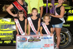 Eagle   08-30-14 448    Clint Luellen with  2013 Miss Nebraska Cup Elle Potocka  along with 2014 Mini Miss Nebraska Cup finailist and flagman Billy Lloyd    JoeOrthPhoto