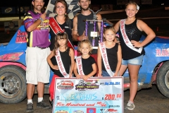 Eagle   08-30-14 457   Tyler Davis with  2013 Miss Nebraska Cup Elle Potocka  along with 2014 Mini Miss Nebraska Cup finailist and flagman Billy Lloyd   JoeOrthPhoto