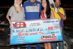 eagle-08-20-11-nick-lindblad-and-miss-nebraska-cup-katlin-leonard-and-miss-nebraska-cup-finalist-allie-mccall-with-flagman-billy-lloyd