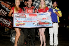 eagle-08-03-13-705-mike-boston-with-miss-nebraska-cup-courtney-wulf-and-miss-nebraska-cup-finalist-jen-harter-and-the-eagle-flagman-billy-lloyd