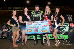 Eagle-07-11-15-484-Adam-Armstrong-with-2015-Miss-Nebraska-Cup-Jen-Harter-and-2015-Miss-Eagle-Raceway-finalist-Kayla-Meidinger-Zoe-Dalton-Robyn-Burnison-JoeOrthPhotos
