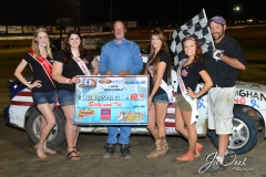 Eagle-07-11-15-516-Beji-Legg-2015-Miss-Nebraska-Cup-Jen-Harter-along-with-2015-Miss-Eagle-Raceway-finalist-Kayla-Meidinger-Zoe-Dalton-Robyn-Burnison-with-flagman-Billy-Lloyd-JoeOrthPhotos