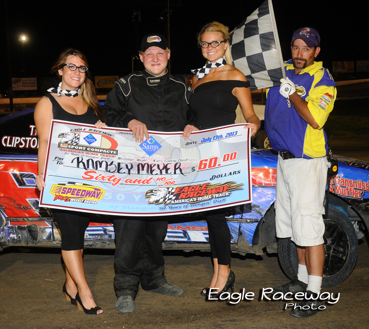 eagle-07-13-13-406-ramsey-meyer-with-miss-nebraska-cup-courtney-wulf-and-miss-nebraska-cup-finalist-elle-patocka-and-flagman-billy-lloyd