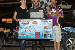 Eagle   07-26-14 457   Matt Moyer with  Miss Nebraska Cup Finalist Jen Harter and flagman Billy Lloyd   JoeOrthPhotos