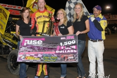 eagle-05-02-14-ne-360-sprints-312-jack-dover-with-miss-nebraska-cup-elle-patocka-and-miss-nebraska-cup-finalist-jen-harter-and-allison-walter-and-flagman-billy-lloyd-joeorthphotos
