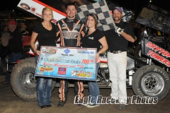 Eagle   05-02-15 768    Trevor Grossenbacher and Country Wulf and Elle Patocka with flagman Billy Lloyd    Joe Orth Photo.jpg