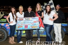 Eagle-05-08-15-430-Roy-Armstrong-and-Miss-Ne-Cup-Jen-Harder-and-Miss-Eagle-Raceway-finalist-Zoe-Dalton-Sidney-Brummer-Robyn-Burnison-with-flagman-Billy-Lloyd-JoeOrthPhotos