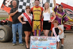 Eagle-09-01-14-520-Jack-Dover-with-2013-Miss-Nebraska-Cup-Elle-Potocka-and-Miss-Nebraska-Cup-finalist-Jen-Harter-and-flagman-Billy-Lloyd-along-with-2014-Mini-Miss-Nebraska-Cup-finailist-Avari-Thornton