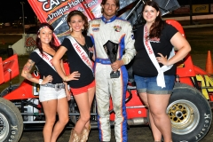 Eagle-09-05-15-IMCA-Nationals-565-John-Carney-II-with-2015-Miss-Eagle-Raceway-finalist-Kayla-Meidinger-Zoe-Dalton-Robin-Brunison-JoeorthPhotos-Copy