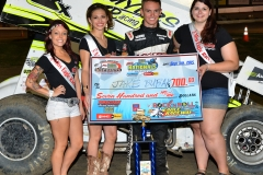 Eagle-09-05-15-IMCA-Nationals-570-Jake-Bubak-with-2015-Miss-Eagle-Raceway-finalist-Kayla-Meidinger-Zoe-Dalton-Robin-Brunison-JoeorthPhotos