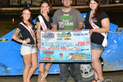 Eagle-09-05-15-IMCA-Nationals-582-Nate-Thomsen-with-2015-Miss-Eagle-Raceway-finalist-Kayla-Meidinger-Zoe-Dalton-Robin-Brunison-JoeorthPhotos