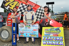 Eagle-09-07-15-IMCA-Nationals-383-John-Carney-II-with-flagmen-Billy-Lloyd-and-Travis-Murray-Joe-OrthPhotos