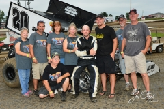 Eagle   09-07-15   IMCA Nationals (428)   Chad Wilson with crew and family.JPG