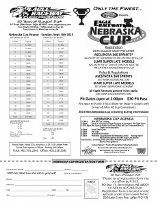 2012 NE Cup Payout and entry