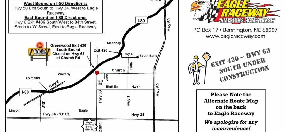 HWY 63 Closed due to Road Construction take an alternate