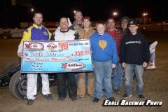 Eagle___04-30-11_Todd_Sanford_and_crew,_flagman_Chad_Hart_and_Miss_Nebraska_Cup