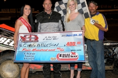 eagle-08-20-11-chris-abelson-and-miss-nebraska-cup-katlin-leonard-and-miss-nebraska-cup-finalist-allie-mccall-with-flagman-billy-lloyd